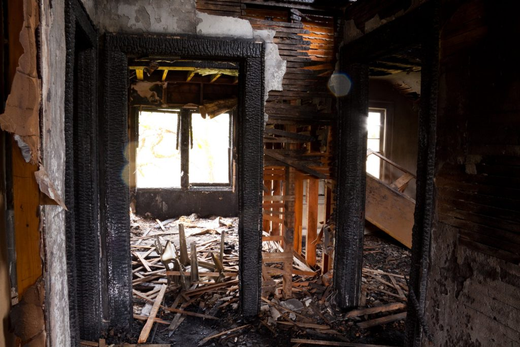 burnt house for restoration