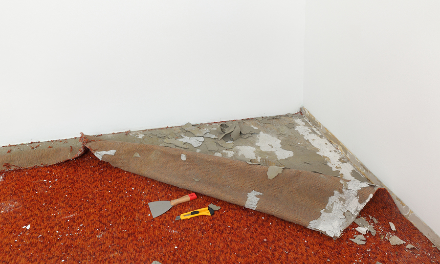 detaching of the floor carpet